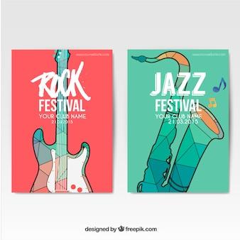 Pósters de festivales de música