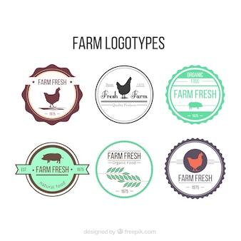 Prácticos logotipos de granja