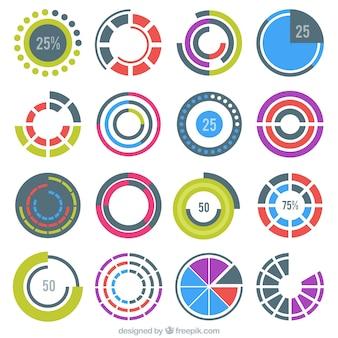 Precargadores redondos coloridos