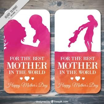 Preciosas tarjetas del día de la madre