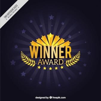 premio ganador con el fondo corona de laurel