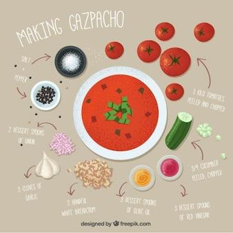 Preparación de gazpacho