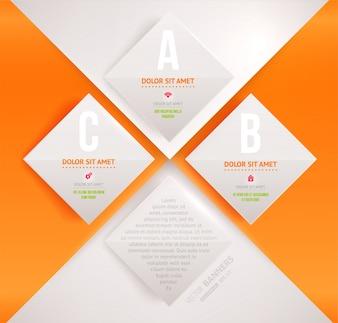 Presentación conceptual de fondo de la etiqueta abstracción