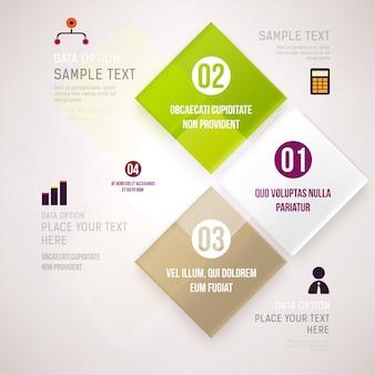 Presentación de información publicitaria infografía etiqueta