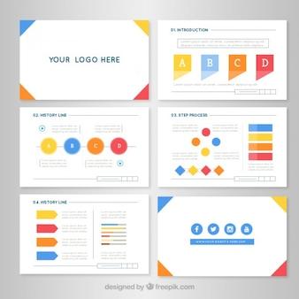 Presentación de negocios en diseño plano