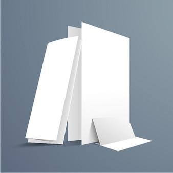 Presentación de papelería en blanco