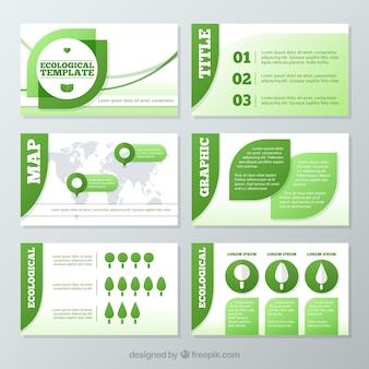 Presentación ecológica con elementos infográficos