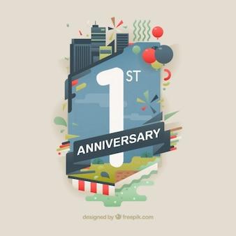 Primer aniversario de empresa