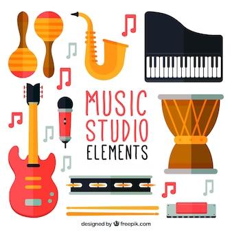 Principales elementos de un estudio de música