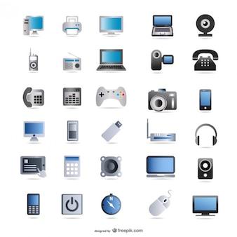 productos digitales de la tecnología de icono de vector de material