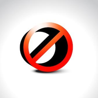 Prohibición no permitido signo
