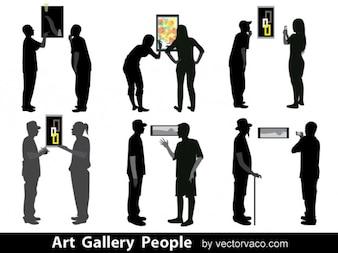 Pueblos en siluetas Art Gallery