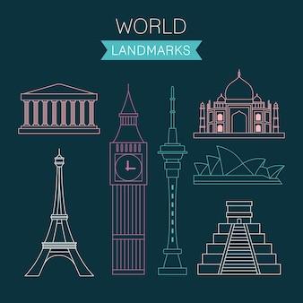 Puntos de referencia trazados del mundo