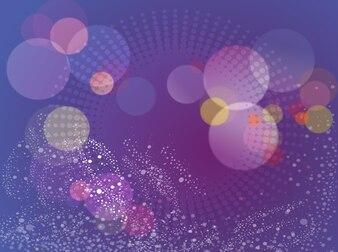 Puntos púrpuras burbujas colorido vector