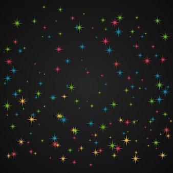 Purpurina de colores en fondo oscuro