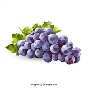 Racimo de uvas poligonal