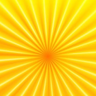 Radiación solar en tonos amarillos y naranjas