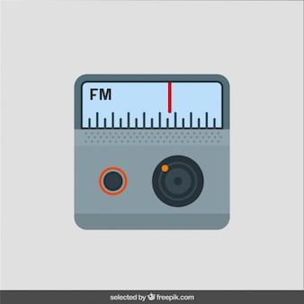 Radio en diseño plano
