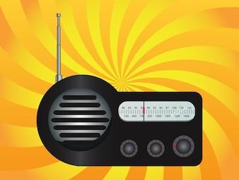 Radio portátil radiodifusión botón vector