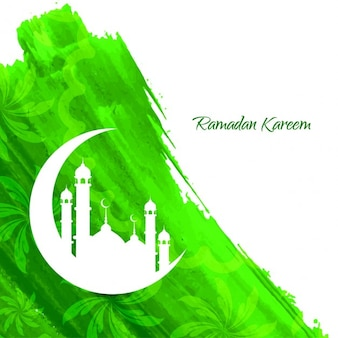Ramadan kareem islámica de diseño de fondo