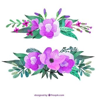 Ramillete de flores de color púrpura