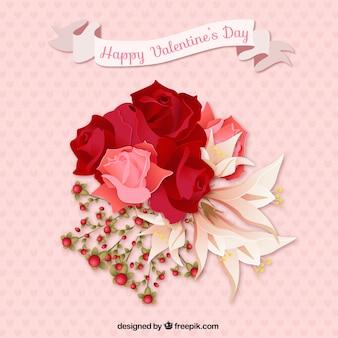 Ramo de flores para el día de san valentín