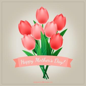 Ramo de tulipanes para el día de la madre