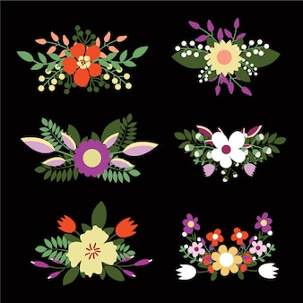Ramos florales lindos, flores retro