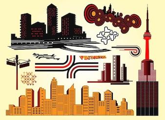Rascacielos de diseño vectorial