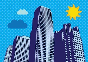 rascacielos de la ciudad de vectores