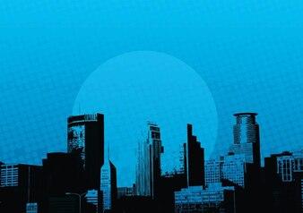 rascacielos de la ciudad los edificios vector