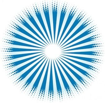 Rayos de sol de diseño con puntos azules