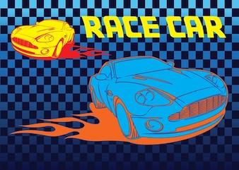 Raza libre vector coche
