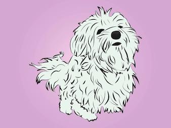 Raza lindo animal de la historieta del perro
