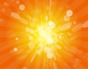 Realista vector de fondo brillante borrosa sol