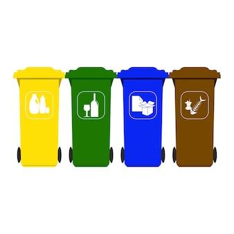 Recicle las cubas de basura