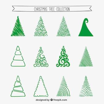 Recogida de árboles de Navidad estilizada