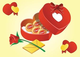 Regalos de San Valentín vector