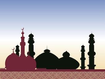 religeion islámico árabe arquitectura vector