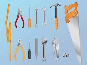 Reparación caja de herramientas herramientas de gráficos vectoriales