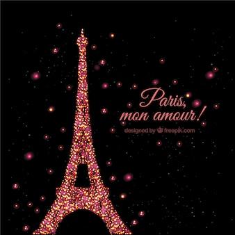 Resplandeciente torre Eiffel