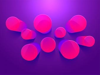 Resumen 3D caños elemento sobre fondo púrpura.