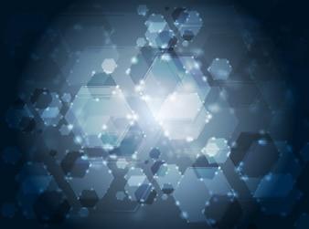 Resumen de antecedentes hecha por hexágonos resplandor