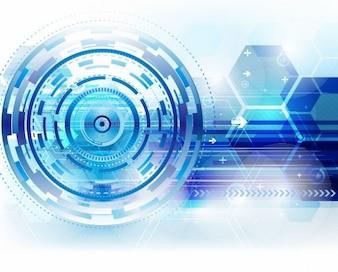 Resumen de antecedentes técnicos en azul