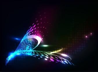 Resumen de los puntos de colores de fondo vector