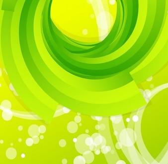 Resumen de vectores de fondo verde