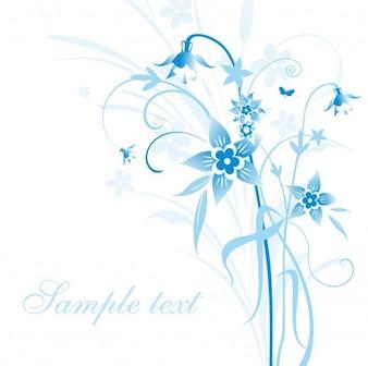 resumen ilustración vectorial de flores azules