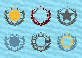 Retro decoración emblema distintivo