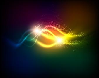 Retro línea de alta tensión de color futurista