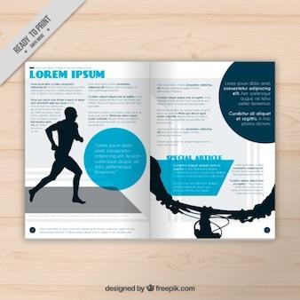 Revista de deporte con corredor